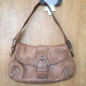 Coach British Tan Soho Flap Buckle Small Handbag